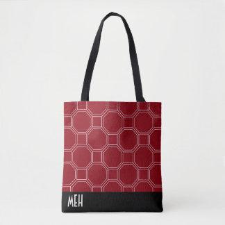 Red HT1 Minor Monogram Tote Bag