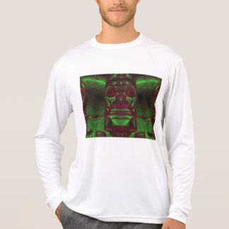 Red Hued Neon Green Double Barreled Gas Mask Tee Shirts