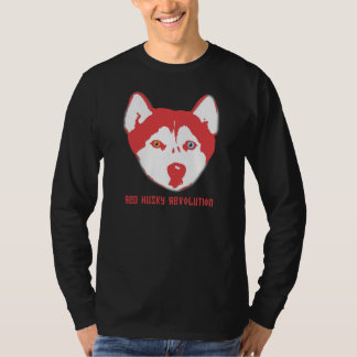 Red Husky Revolution Black Long Sleeve T T-Shirt