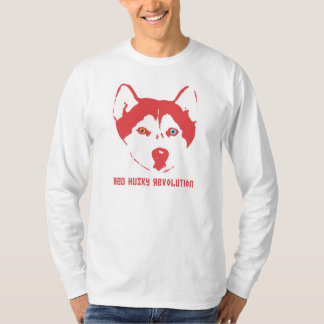 Red Husky Revolution White Long Sleeve T T-Shirt