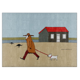 Red Hut in Rye Harbour Cutting Board