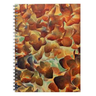 Red Hydrangea Spiral Notebook