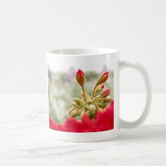 Red hydrangeas buds basic white mug