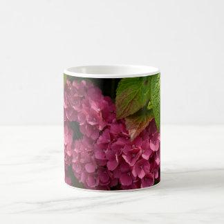 Red Hydrangeas  Flowers Coffee Mug