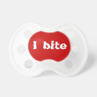 Red I Bite Funny Baby Pacifier Dummy Binkie