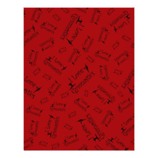 Red I love gymnastics Full Color Flyer