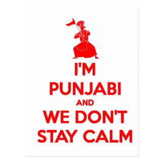 RED I m Punjabi and We Don t Stay Calm Postcards