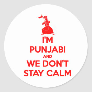 RED I m Punjabi and We Don t Stay Calm Stickers