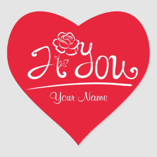 Red / I rose you / Valentines Day Sticker