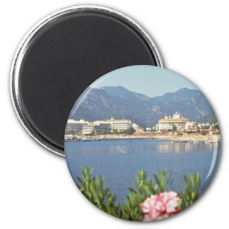 Red Icmeler, Turkey flowers 6 Cm Round Magnet
