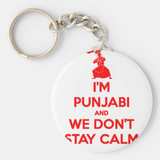 (RED) I'm Punjabi and We Don't Stay Calm Key Ring