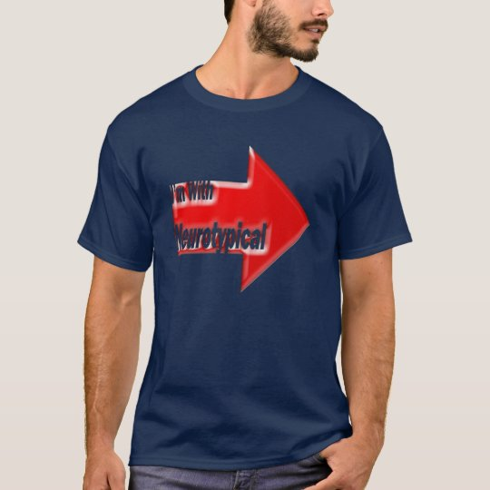 Red I'm with Neurotypical T-Shirt