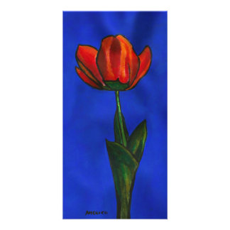 Red Imperial Tulip Picture Card