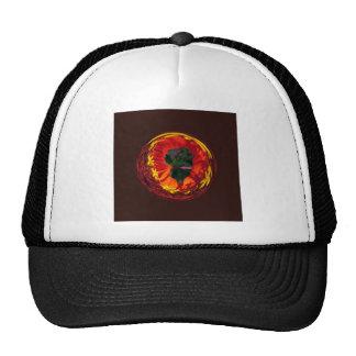 Red in the globe cap