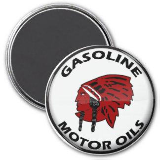 Red Indian Gasoline vintage sign crystal vers. Magnet