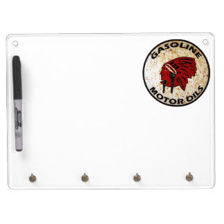 Red Indian Gasoline vintage sign rusted Dry-Erase Whiteboard