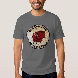 Red Indian Gasoline vintage sign. Rusted version Shirt