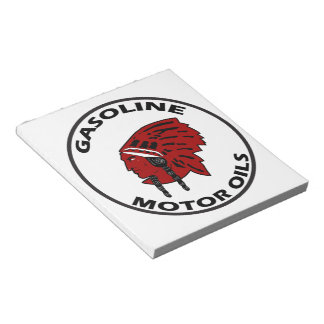 Red Indian Gasoline vintage tin sign notepad Notepad