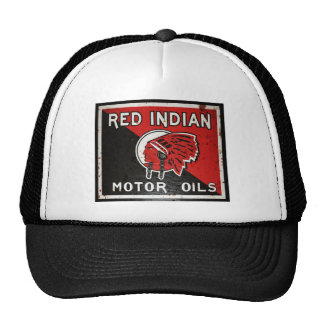 Red Indian Motor Oil sign rusted vers Hats