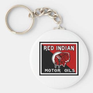 Red Indian Motor Oils vintage sign Keychain