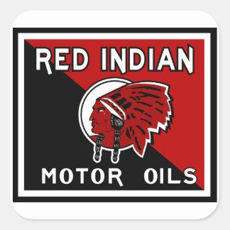 Red Indian Motor Oils vintage sign Square Sticker