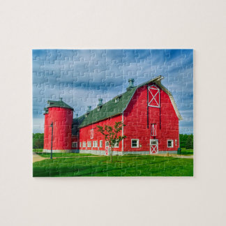 Red Indiana Barn Jigsaw Puzzle