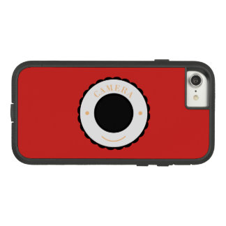 Red individuality camera & smile Case-Mate tough extreme iPhone 8/7 case