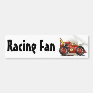 Red Indy Race Car Racing Fan Bumper Sticker Car Bumper Sticker