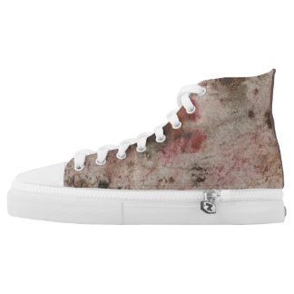 Red ink abstract high tops