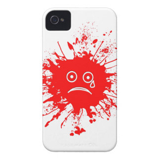 Red Ink Blotch iPhone 4 Cases