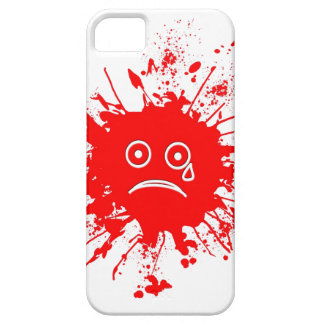 Red Ink Blotch iPhone 5 Cases