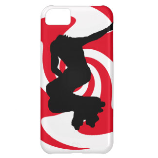 RED INLINE SKATES COVER FOR iPhone 5C