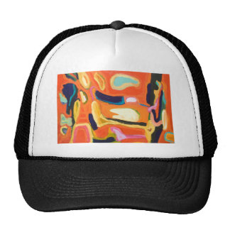 Red Interior ( abstract expressionism ) Trucker Hats