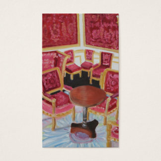 Red Interior Chateau Fontainebleau business card