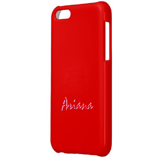 Red iPhone 5 Glossy finish case for Ariana iPhone 5C Cases