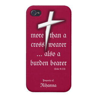 Red iPhone Case w/ Cross iPhone 4 Cover
