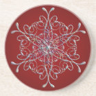 Red Iridescent Snowflake Coasters