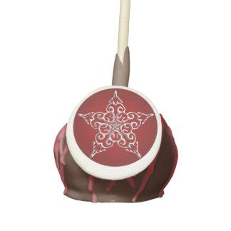 Red Iridescent Star Cake Pops
