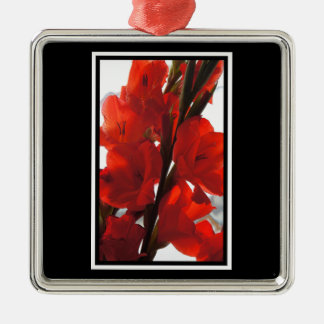 Red Iris Christmas Ornament