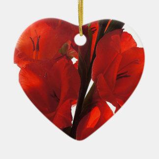 Red Iris Christmas Ornament