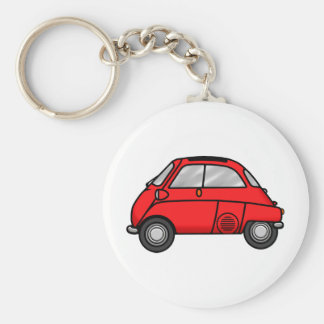 Red Isetta Basic Round Button Key Ring