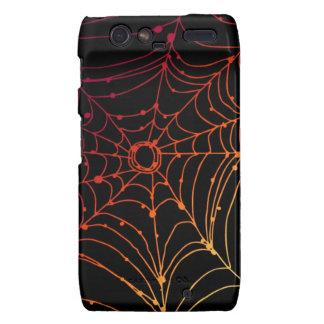 Red-ish gradient spider web droid RAZR cover