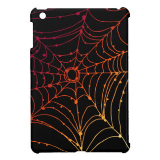 Red-ish gradient spider web cover for the iPad mini
