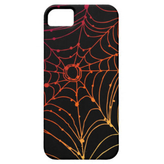 Red-ish gradient spider web iPhone 5 cover