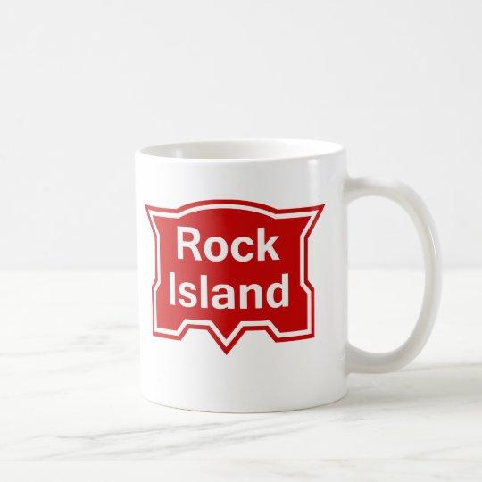 Red Island of Rock Coffee Mug