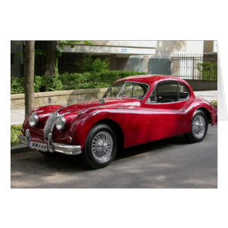 Red Jaguar XK120 Card