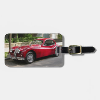 Red Jaguar XK120 Luggage Tag