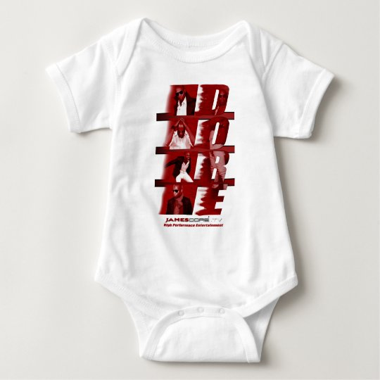 RED James Dore' Infant Onsie White Baby Bodysuit