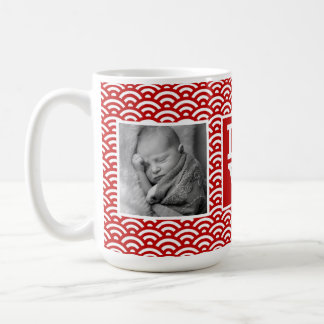 Red Japanese Pattern | LOVE with Photos Coffee Mug