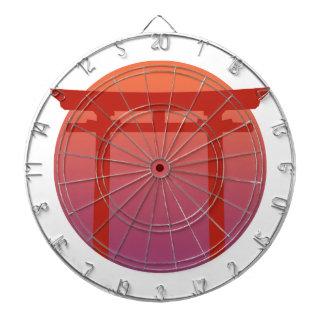 Red Japanese Torri Gate - Sunset - Zen - Japanese Dartboard